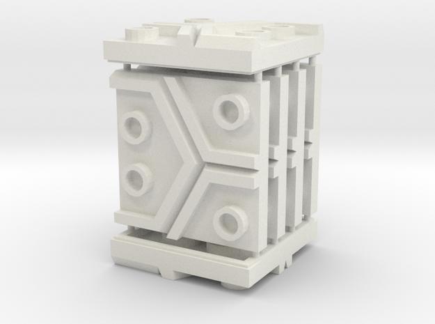 3 x 3 Hex Set in White Natural Versatile Plastic