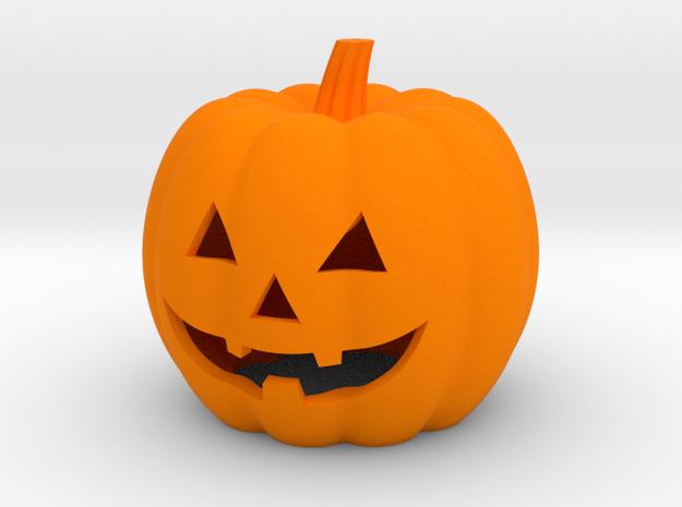 Halloween Pumpkin Candle Holder (hollow version) in Orange Processed Versatile Plastic