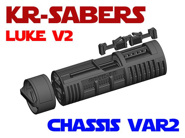 KR Luke V2 - Lightsaber Chassis Var2 in White Natural Versatile Plastic