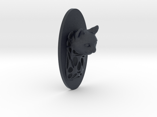 Cat Full Face + Voronoi Support in Black PA12