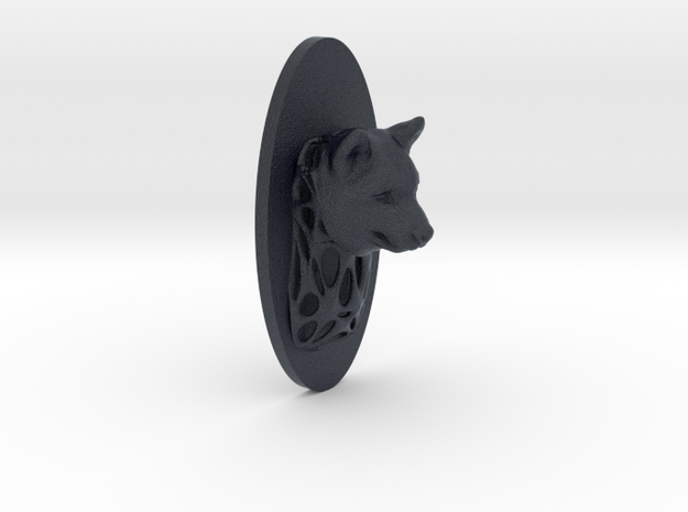 Dog Full Face + Voronoi Support in Black PA12
