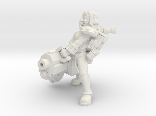 Miner Heavy slug cannon in White Natural Versatile Plastic