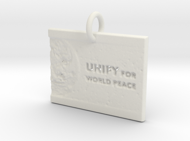 Unify For World Peace in White Natural Versatile Plastic: d3