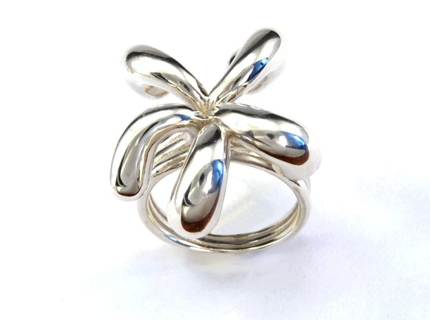 Water Drops Ring (From $15) in Polished Silver: 7 / 54