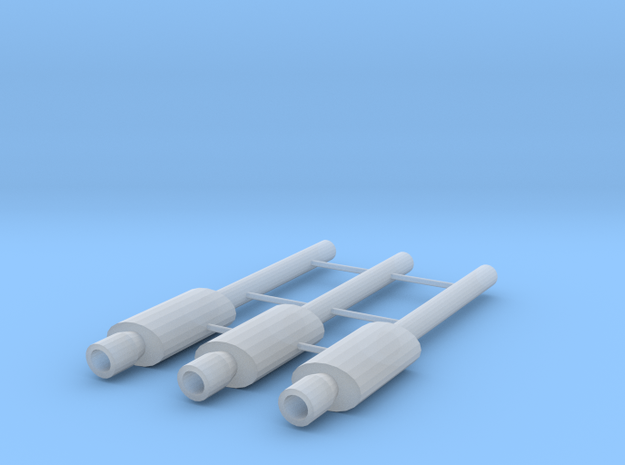 1/64 Scale G-Reddy type exhaust with 2mm tip in Smoothest Fine Detail Plastic