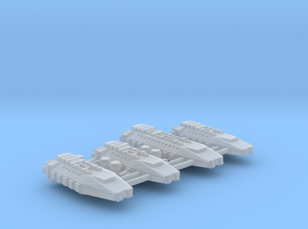 1/1000 Scale Earther Shuttles in Smooth Fine Detail Plastic