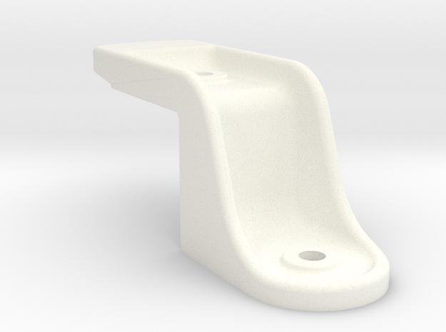 "Camel Co Left Side Door Stop - 2.5"" scale in White Processed Versatile Plastic"