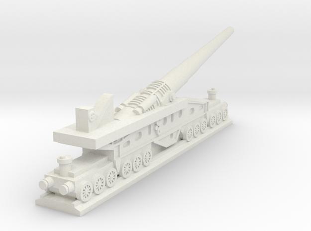 340mm/45 Modèle 1912 Railroad Gun (France) in White Natural Versatile Plastic
