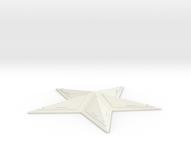 "Captain America Chest Star (3.5"" wide) in White Natural Versatile Plastic"