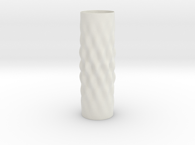 Surcos Vase in White Natural Versatile Plastic