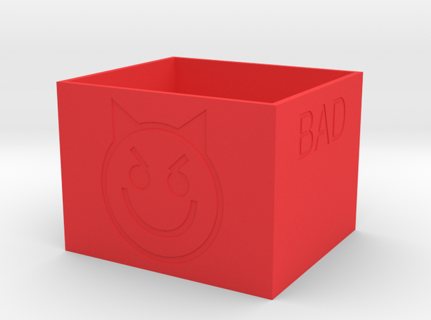 """""""Bad"""" Battery Box in Red Processed Versatile Plastic"""