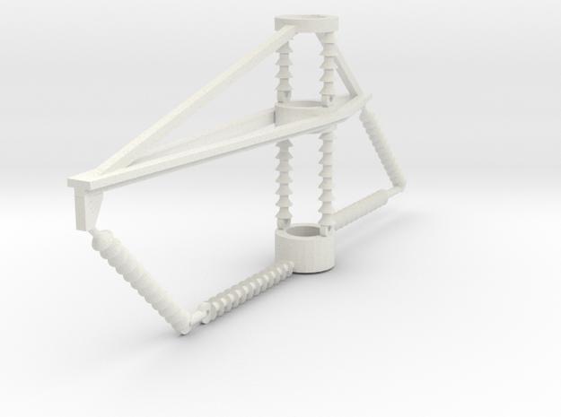PRR 2 phase bracket CURVE in White Natural Versatile Plastic