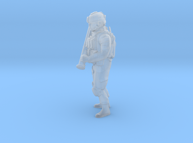 Soldier 3 no base (1:64 Scale) in Smooth Fine Detail Plastic
