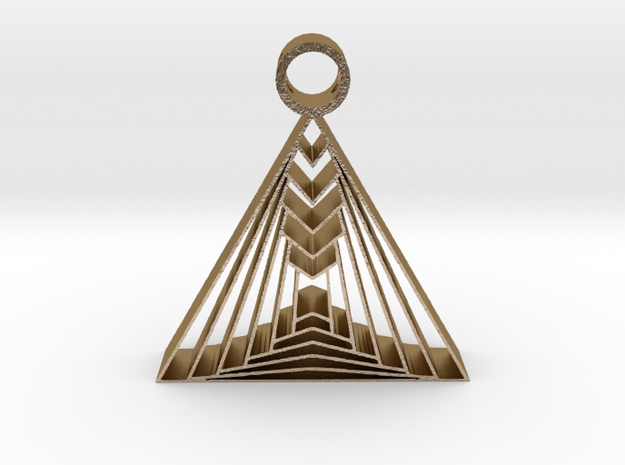 triangle pendant 1 in Polished Gold Steel