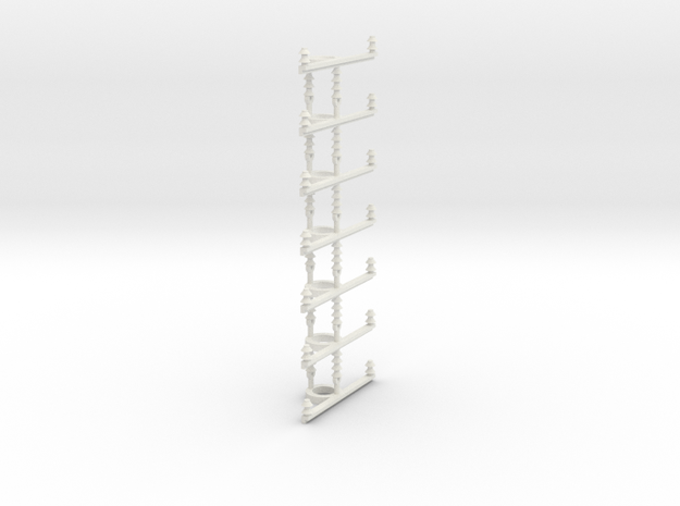signal line bracket round pole in White Natural Versatile Plastic