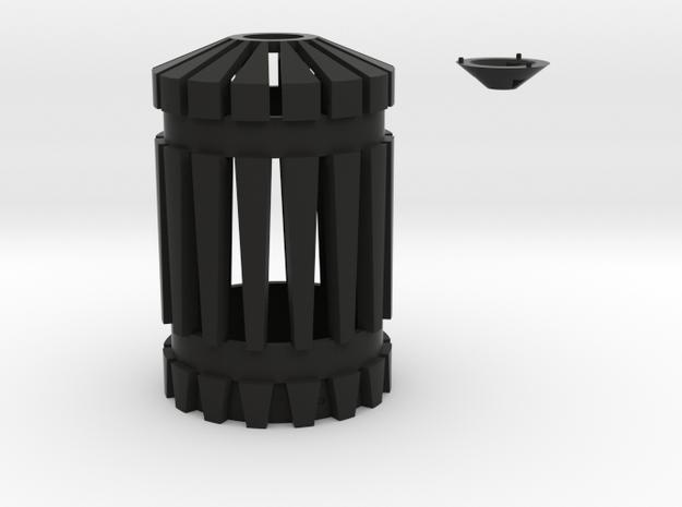 Battlestar Galactica blaster top with optional tip in Black Natural Versatile Plastic