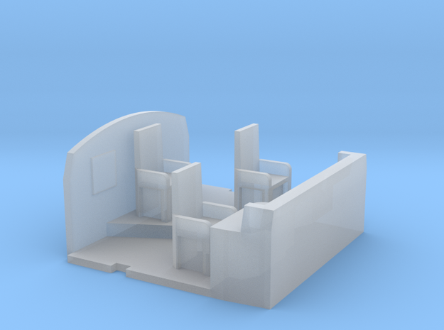 Cab Interior for Athearn GE P42 (HO Scale) in Smooth Fine Detail Plastic