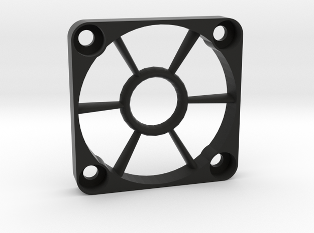 40mm Open-Center Fan Grill in Black Natural Versatile Plastic