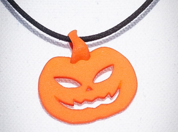 jack-o'-lantern pendant in Orange Processed Versatile Plastic