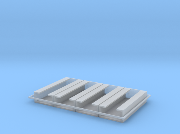 MG15 Ammo Racks 1 to 72 in Smooth Fine Detail Plastic