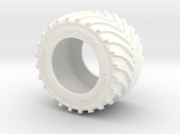 1/87 LSW 1400 Tyre in White Processed Versatile Plastic: 1:87 - HO
