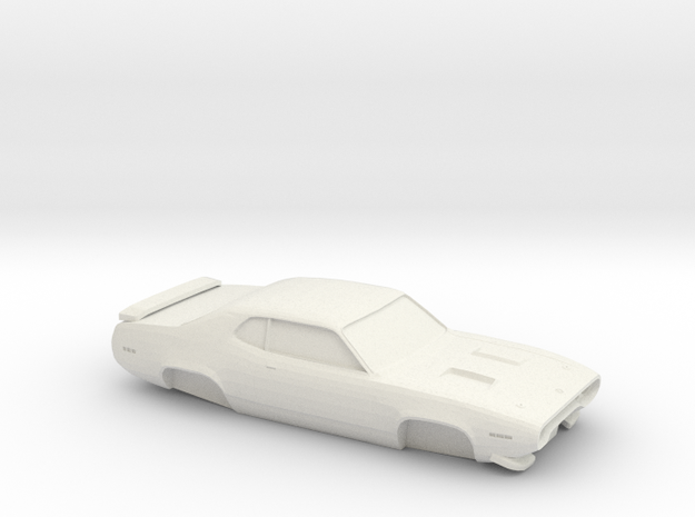 1/32 1970 Plymouth Roadrunner Shell in White Natural Versatile Plastic