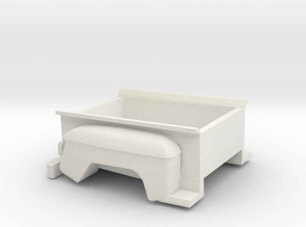 1/32 Stepside Bed in White Natural Versatile Plastic