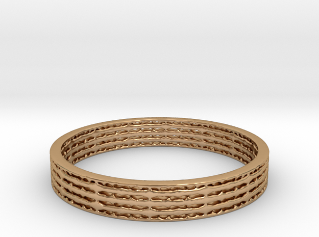 Ridged Band in Polished Bronze