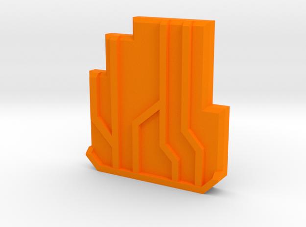 Cyber-coin in Orange Processed Versatile Plastic