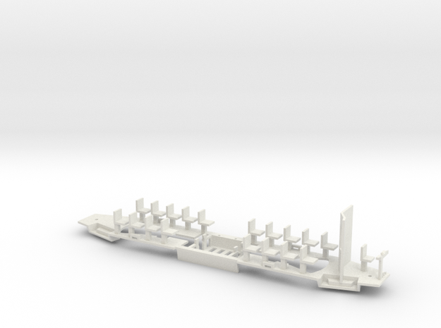 Konstal 105Na Fahrwerk mit  großer Kabine  in White Natural Versatile Plastic