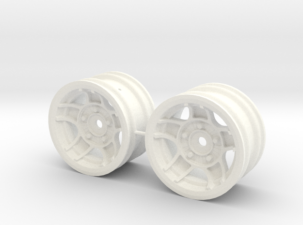 M-Chassis Wheels - NSU-TT ATS Style - +3mm Offset in White Processed Versatile Plastic