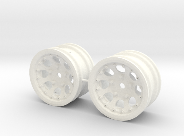 M-Chassis Wheels - NSU-TT Spiess Style - +2mm in White Processed Versatile Plastic