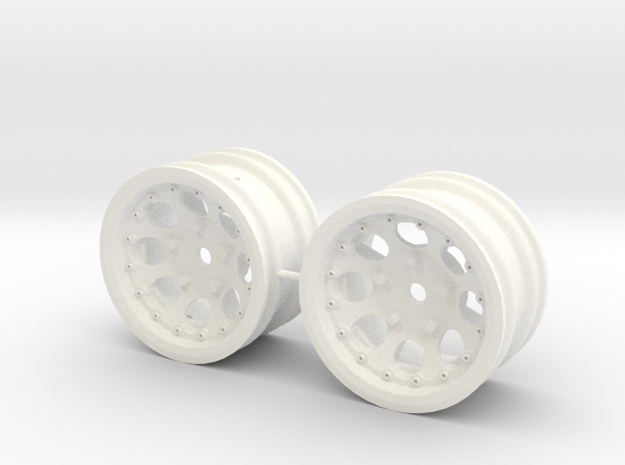 M-Chassis Wheels - NSU-TT Spiess Style - +3mm in White Processed Versatile Plastic