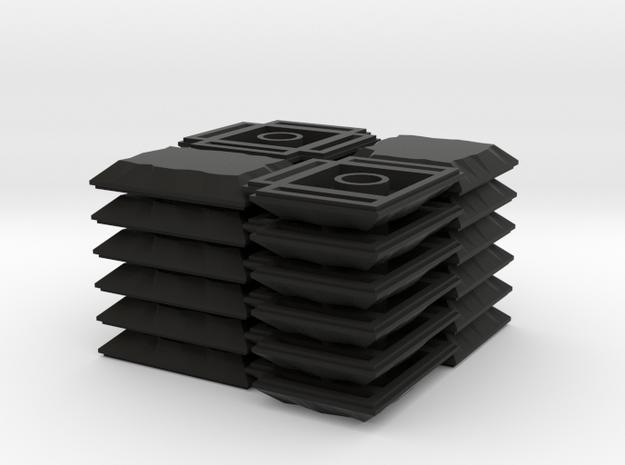 3x3 Cross Set in Black Natural Versatile Plastic