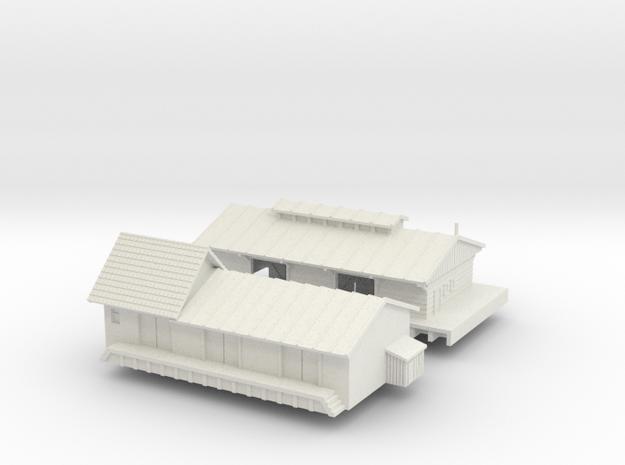 1:350 Warehouse  in White Natural Versatile Plastic