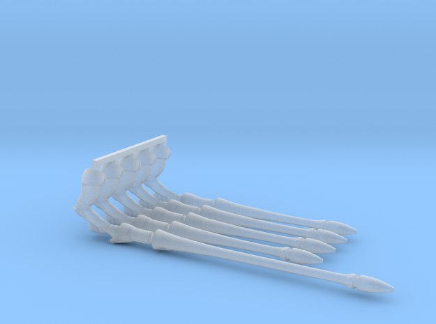 Eldar Space Elf Shining Spears x5 (4 Short 1Long) in Smooth Fine Detail Plastic