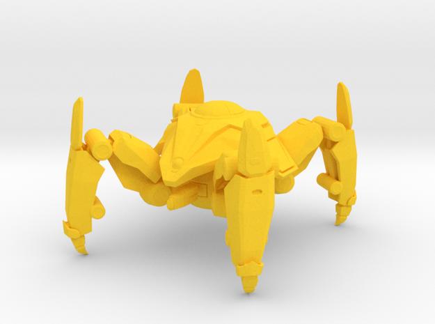 1/60 Game Piece Dragoon in Yellow Processed Versatile Plastic