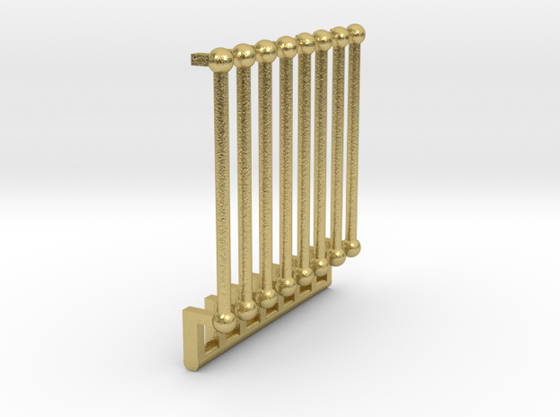 O Scale P & W Brill Bullet Door Grabs in Natural Brass