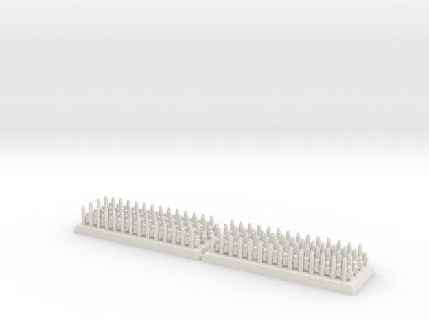 3mm DBA Spears 40x15mm (x2) in White Natural Versatile Plastic