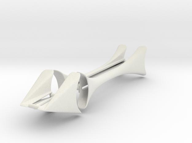 "X fenders 4.75"" Wheel Base in White Natural Versatile Plastic"