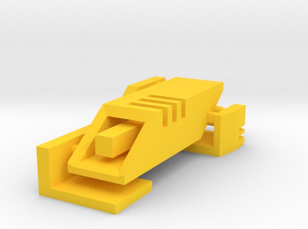 Ingress Portal Key in Yellow Processed Versatile Plastic