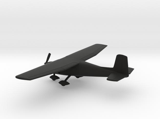 Cessna 150C in Black Natural Versatile Plastic: 1:100