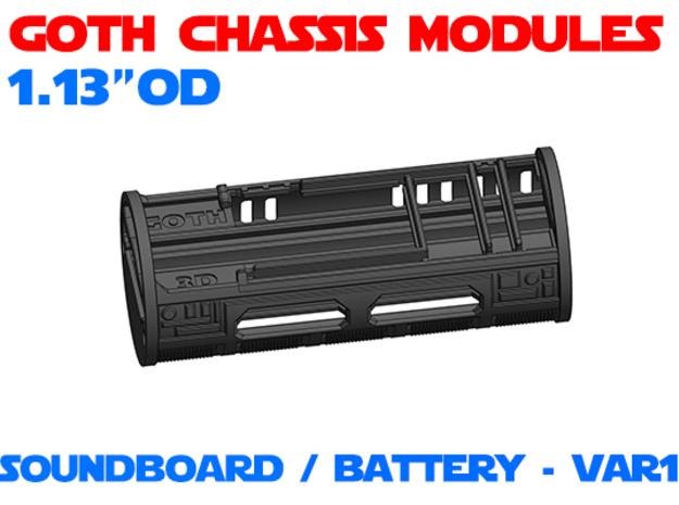 GCM113 - Soundboard Lightsaber Chassis Var1 in White Natural Versatile Plastic