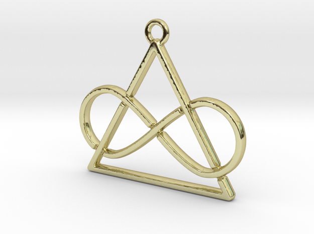 Infinite and triangle intertwined in 18k Gold Plated Brass