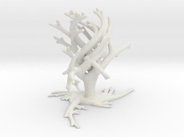 TwistBoquet - Triple Divisions in White Natural Versatile Plastic