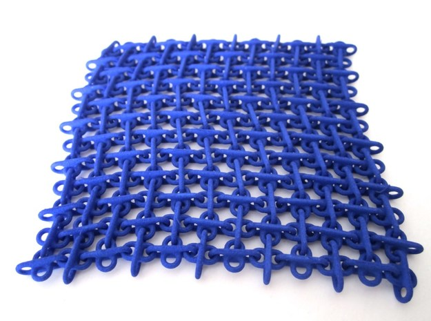 Double Eight Fabric v2 in Blue Processed Versatile Plastic