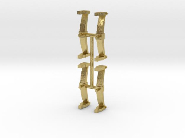Tender springs for Titfield Thunderbolt-Brass in Natural Brass