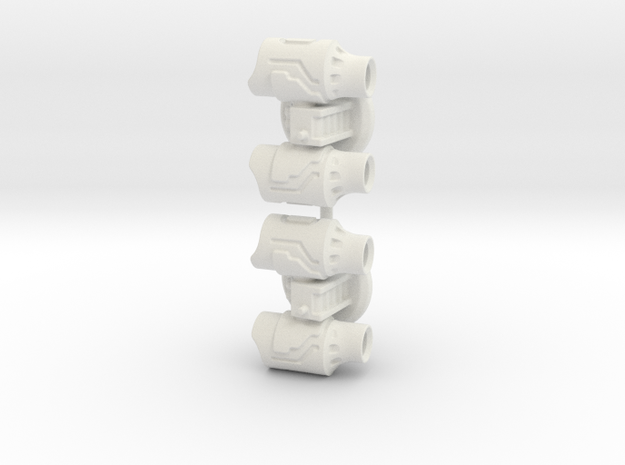 Missile Turret Pack (C) 6mm Gaming in White Natural Versatile Plastic