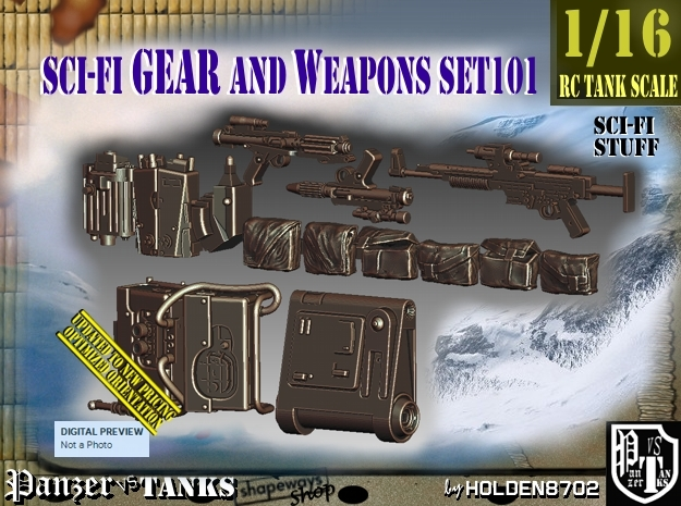 1/16 Sci-Fi Gear and weapons Set101