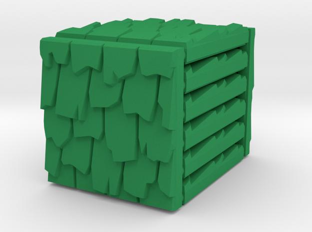 3 x 3 Rough Shingle Set in Green Processed Versatile Plastic
